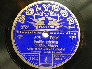 MUNICH LATIN CHOIR CATHEDRA w/TROBONES Polydor 90064 78