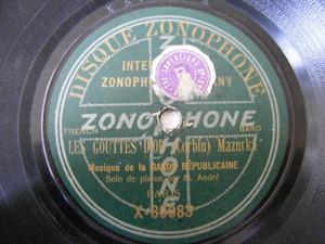 M. GUILLIER & M. ANDRE Zonophone 80083 PISTON 78 LES DEUX AMIS