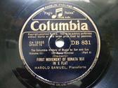 HAROLD SAMUEL Columbia 831 PIANO 78rpm CLEMENTI Sonata