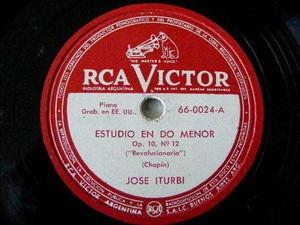 JOSE ITURBI Arg VICTOR 66-0024 78 REVOLUCIONARIO/MALAGUENA