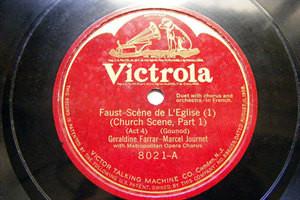 FARRAR & JOURNET Victrola 8021 OPERA 78 FAUST Church Scene