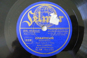 AIME CLARIOND Selmer 6355 FRENCH COMIC 78 CHANTECLER