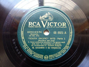 "12"" AL GOODMAN Victor 68-8021 78 SOUTH PACIFIC HITS"