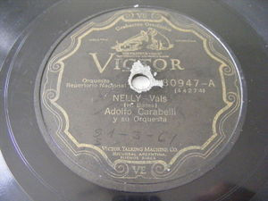 ADOLFO CARABELLI Victor 80947 78rpm NELLY / NEW YORK