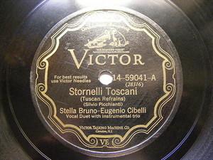 ESTELLA BRUNO & EUGENIO CIBELLI Victor 14-59041 78 STORNELLI ROMANI & TOSCANI