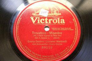 DESTINN & MARTINELLI Victrola 89119 OPERA 1Side 78 TROVATORE MIserere