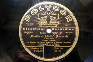 CLARA CLAIRBERT Polydor 66792 OPERA 78 LAKME/ROMEO ET JULIETTE