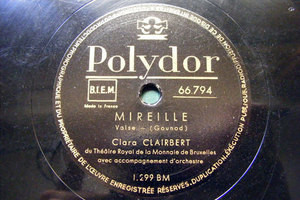 CLARA CLAIRBERT Polydor 66794 OPERA 78 MIREILLE/MIGNON
