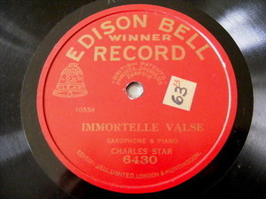 ALFREDO'S BAND / CHARLES STAR Edison Bell 6430 78rpm UK