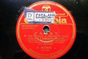 GAUBERT cond BEAUJON, THILL, BORDON Col 4055 OPERA 78 FAUST trio