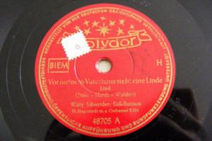 WILLY SCHNEIDER Polydor 48705 GERMAN 78 VOR MEINEM VATE