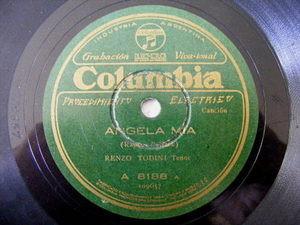 RENZO TODINI Columbia 8188 ITALIAN 78 ANGELA MIA/LA CAROLINA