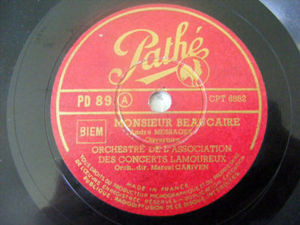 MARCEL CARIVENT Pathe 89 78rpm VERONIQUE/MONSIEUR BEAUC