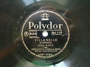 ERNA SACK Polydor 561119 OPERA 78rpm ESTRELLITA