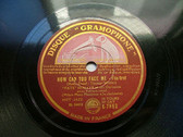 """""""FATS"""" WALLER Gramophone K-7863 JAZZ 78 HOW CAN YOU FACE ME? NM"""