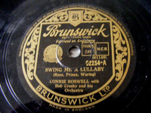 C.BOSWELL Brunswick 02254 JAZZ 78rpm SWING ME A LULLABY