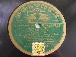 JOSEPH SNAGA Polydor Brass Orch 22633 78 RIGOLETTO NM