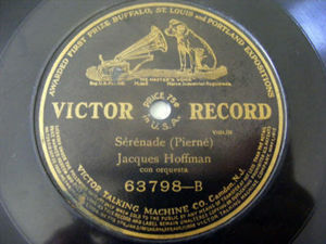 JACQUES HOFFMAN Victor 63798 ORCH 78rpm A UNA ROSA SILV