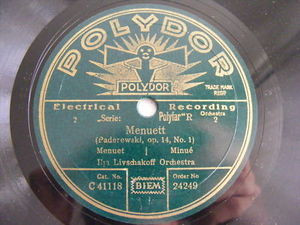 ILJA LIVSCHAKOFF Orch Polydor 24249 RUSSIA78 MENUETT NM