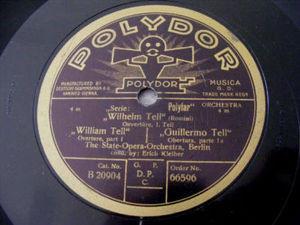 ERICH KLEIBER Polydor 66596 2x78rpm Set WILHELM TELL Ov