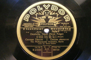 E. KLEIBER Polydor 66730 78rpm MOZART Deutsche Tanze