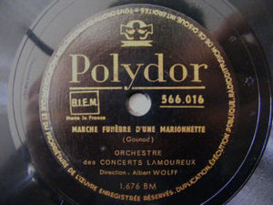 ALBERT WOLFF French POLYDOR 566016 78 MARCHE FUNEBRE