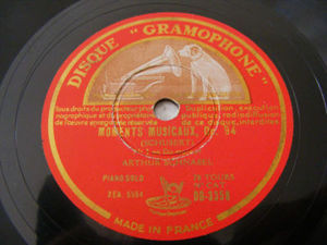 A. SCHNABEL Gramophone 3358 PIANO 78rpm MOMENTS MUSICAU
