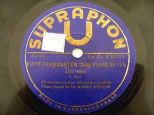 KAREL REINER Supraphon 78 SUITE FOR¼ TONE PIANO (HABA)