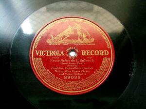 FARRAR & JOURNET Victrola 89035 OPERA 1Side 78rpm FAUST