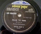 """7"""" BEATLES Odeon 3185 Argentina 33rpm ELLA TE AMA"""