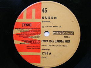 "7"" QUEEN Crazy Little Thing ARGENTINA EP 45rpm"