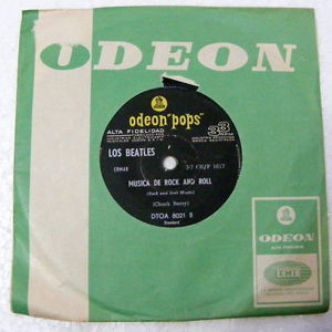 "7"" THE BEATLES Ocho Dias ARGENTINA Odeon Pops EP"