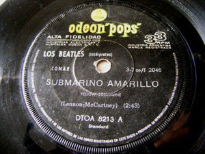 "7"" THE BEATLES Odeon Pops 8213 Argentina 33 SUBMARINO"