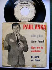 """7"""" PAUL ANKA Adan y Eva ARIEL 513 ARGENTINA EP PS"""