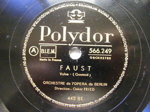 FRIED, WOLFF Polydor 566249 OPERA 78 CARMEN / FAUST
