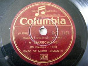 ENZO DE MURO LOMANTO Columbia 1102 OPERA 78 MARECHIARE
