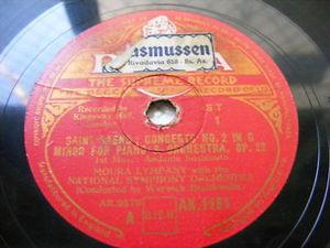 MOURA LIMPANY Decca 1161 PIANO 3x78 Set SAINT SAENS