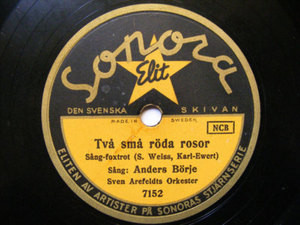 ANDERS BORJE Sonora 7152 SWEDISH JAZZ 78 PRINSESSANS