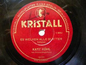 KATE KUHL QTET Kristall 6151 GERMAN 78 LIPPE-DETMOLD