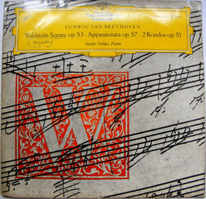ANDOR FOLDES dgg LEPM 19166 BEETHOVEN LP PROMO