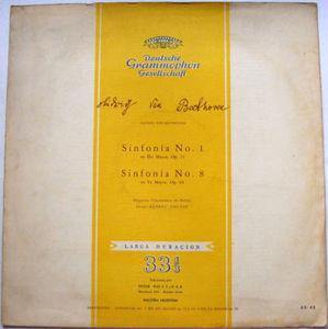 Rare FERENC FRICSAY dgg 63-43 BEETHOVEN 1,8 Arg Edit LP