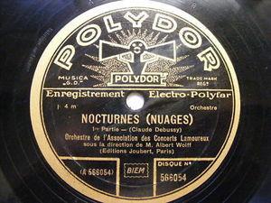 ALBERT WOLFF polydor 566054 2x78 Set DEBUSSY Nocturnes
