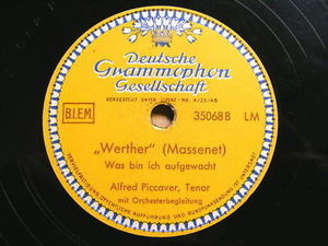 ALFRED PICCAVER dgg 35068 OPERA 78rpm MANON/WERTHER