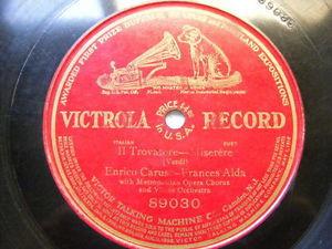 CARUSO & ALDA Victrola 89030 OPERA 1 Side 78 Miserere