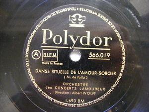 ALBERT WOLFF Polydor 566019 78 DE FALLA Danse Rituelle
