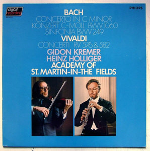 KREMER & HOLLIGER Philips Digital 6514 311 BACH LP NM
