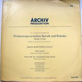 ARCHIV 14100 West Europe Between Baroque & Rococo LP NM