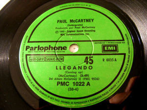 "7"" WINGS & McCARTNEY Parlophone 1022 Argent 45 LLEGANDO"