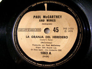 "7"" McCARTNEY & WINGS Apple 1063 Argentina 45 SALLY G"