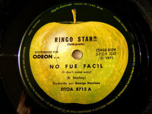 "7"" RINGO STARR Apple 8712 ARGENTINA 45 NO FUE FACIL"
